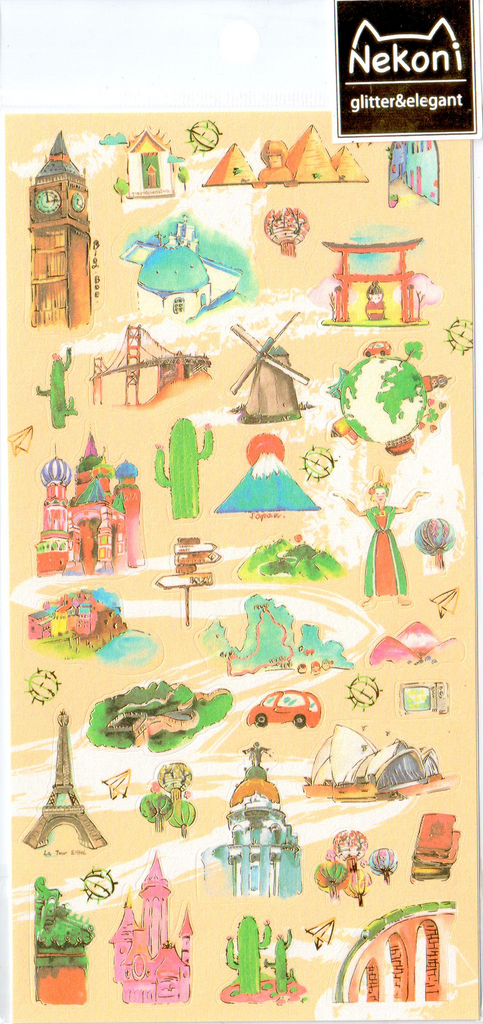 Nekoni Travel Sticker Sheet