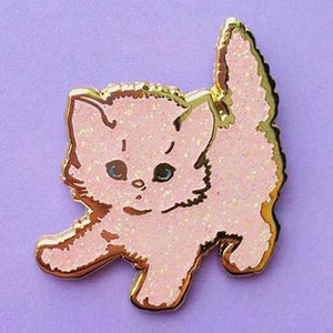 Pink Sparkly Kitty Pin