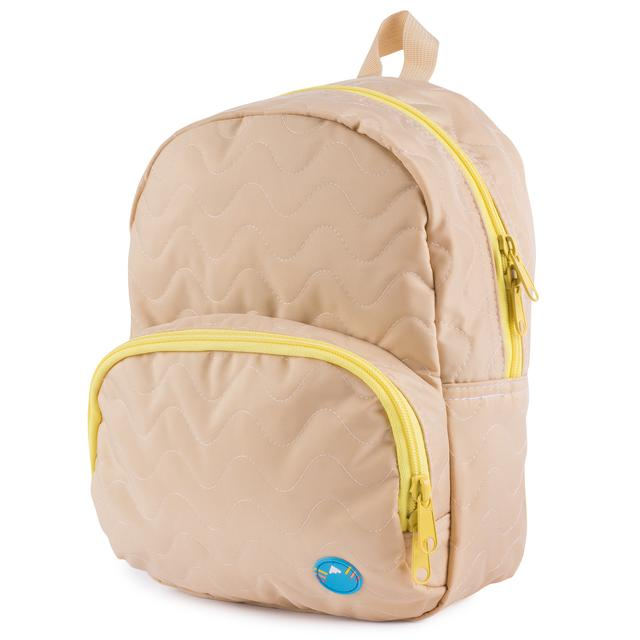 Tan Quilted Purse Backpack