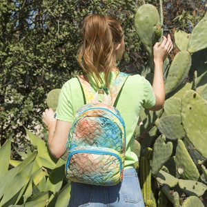 Tie Dye Quilted Purse Backpack