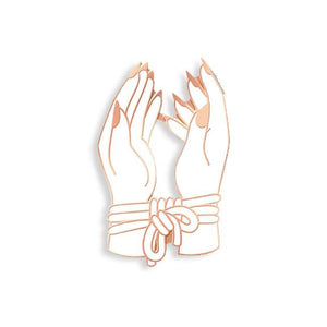 Bound Hands Pin by Hannah Nance