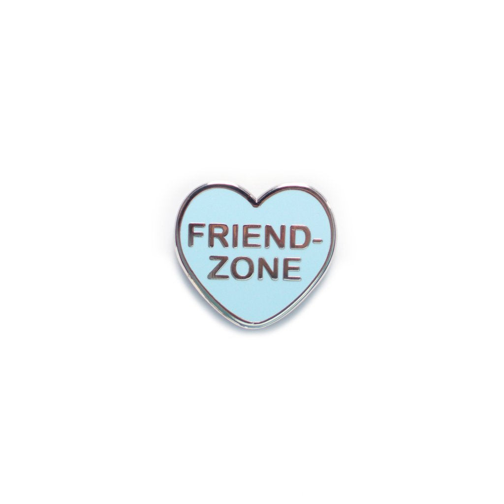 Friendzone Candy Heart Pin