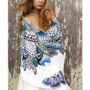 Blue Butterfly Wings Scarf