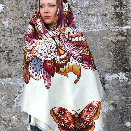 Brown Butterfly Wings Scarf