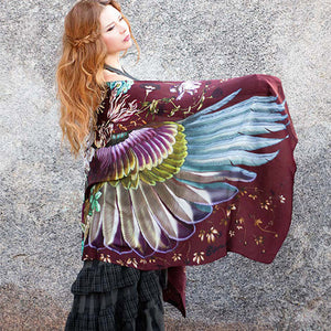 Crimson Wings Scarf