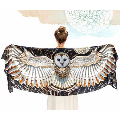 Wheat Owl Scarf