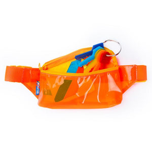 Orange Vinyl Fanny Pack