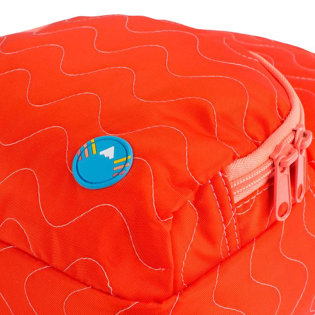 Red / Orange Quilted Purse Backpack