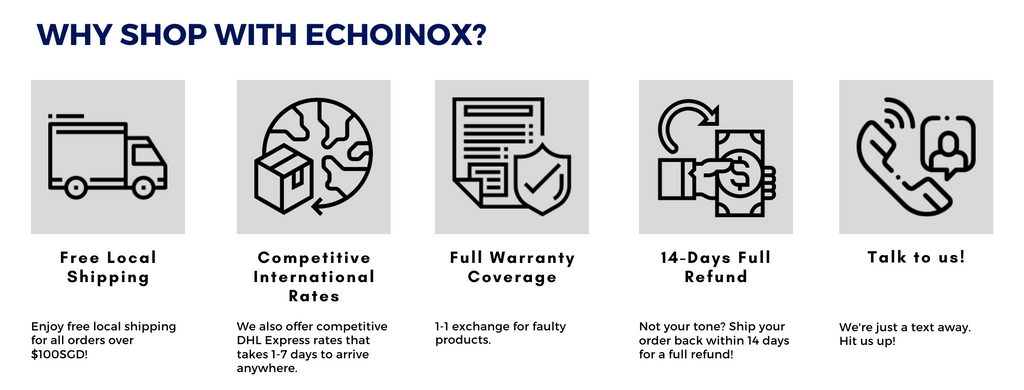 Echoinox Promise - Why shop with us
