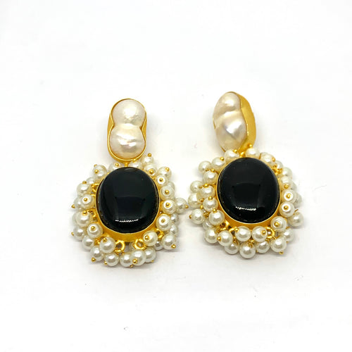 CARMEN ONYX EARRINGS
