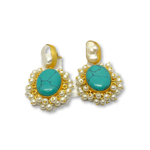 CARMEN TURQUOISE EARRINGS