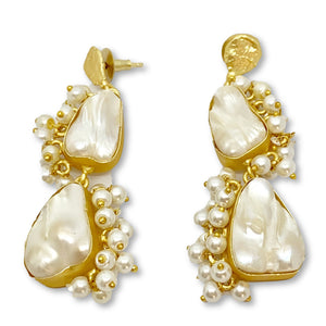 TIA GOLD EARRINGS
