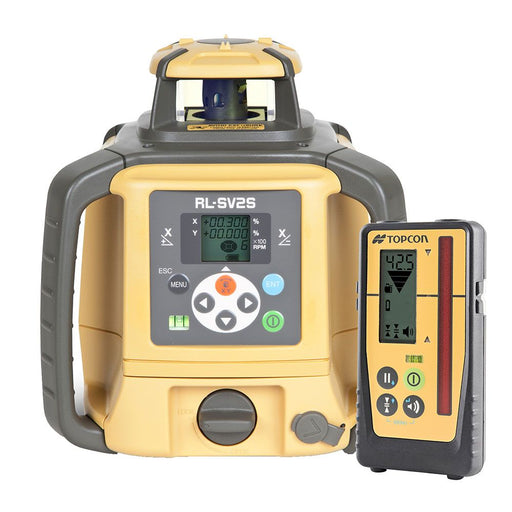 Topcon Rotating Laser Level Red Beam Dial-Dual-Grad Rechargeable RL-SV2SRB + LS100D