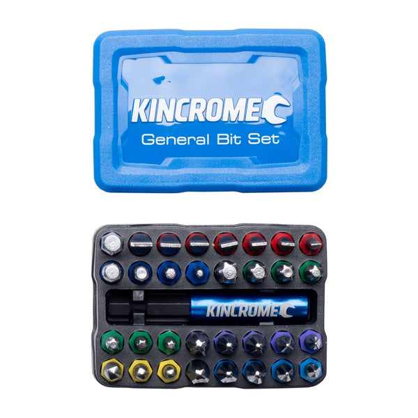 Kincrome 33 Piece General Bit & Holder Set 13649