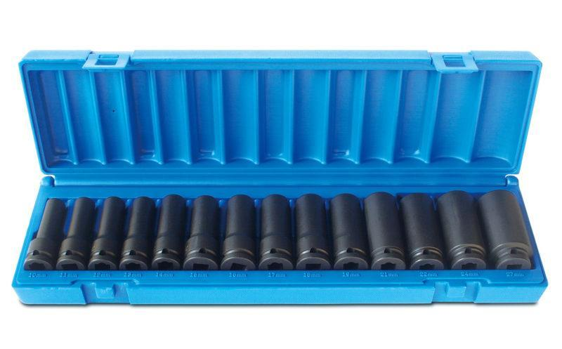 Action Impact Socket Set 1/2in Drive Deep 14 Piece 6PT Metric 605221402