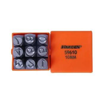 Harden 9 Piece 10mm Steel Numbers 610859