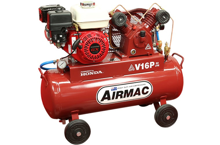 Airmac Petrol Reciprocating 6.6cfm Air Compressor AM V16P