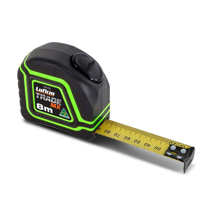 Lufkin TM48M10 8m x 25mm Trade Mx Metric Tape Measure - United Tools Townsville