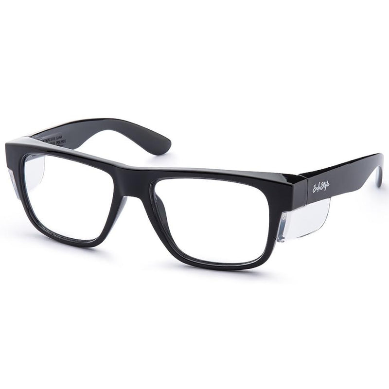Safestyle 'Fusions' Black Frame/Clear UV400 Lens
