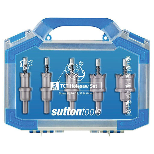 Sutton 5 Piece Tungsten Carbide Teeth (TCT) Holesaw Set H1170005