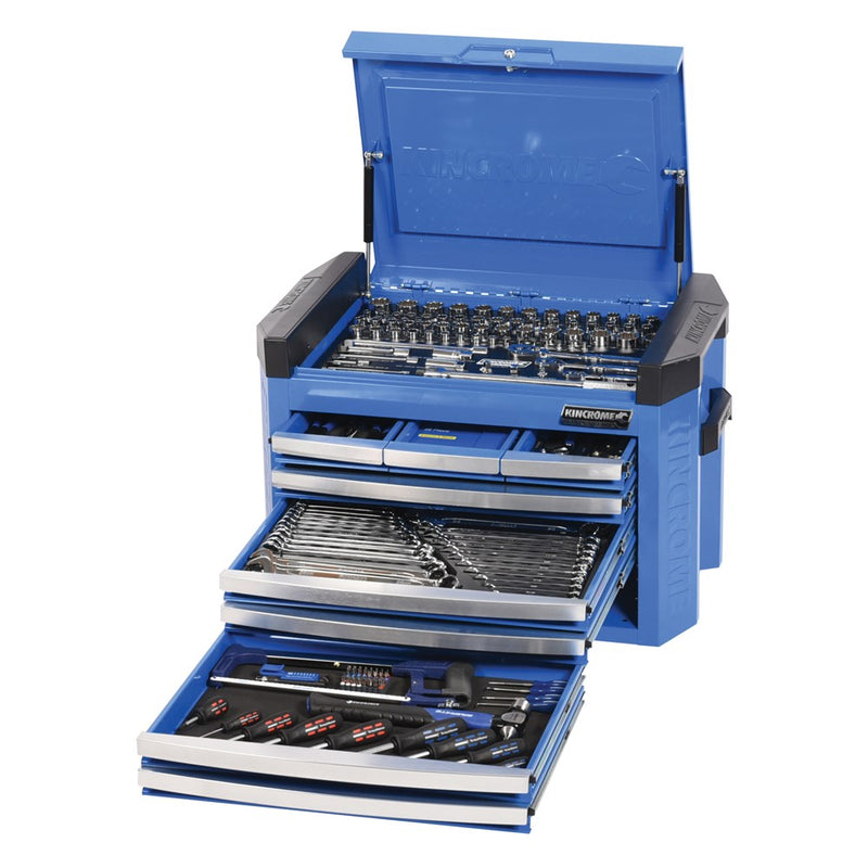 Kincrome Tool Chest Contour 8 Drawer 207 Piece Imperial & Metric Electric Blue K1509