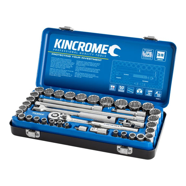 "Kincrome Socket Set 39 Piece 3/8"" Drive - Metric & Imperial K28011"