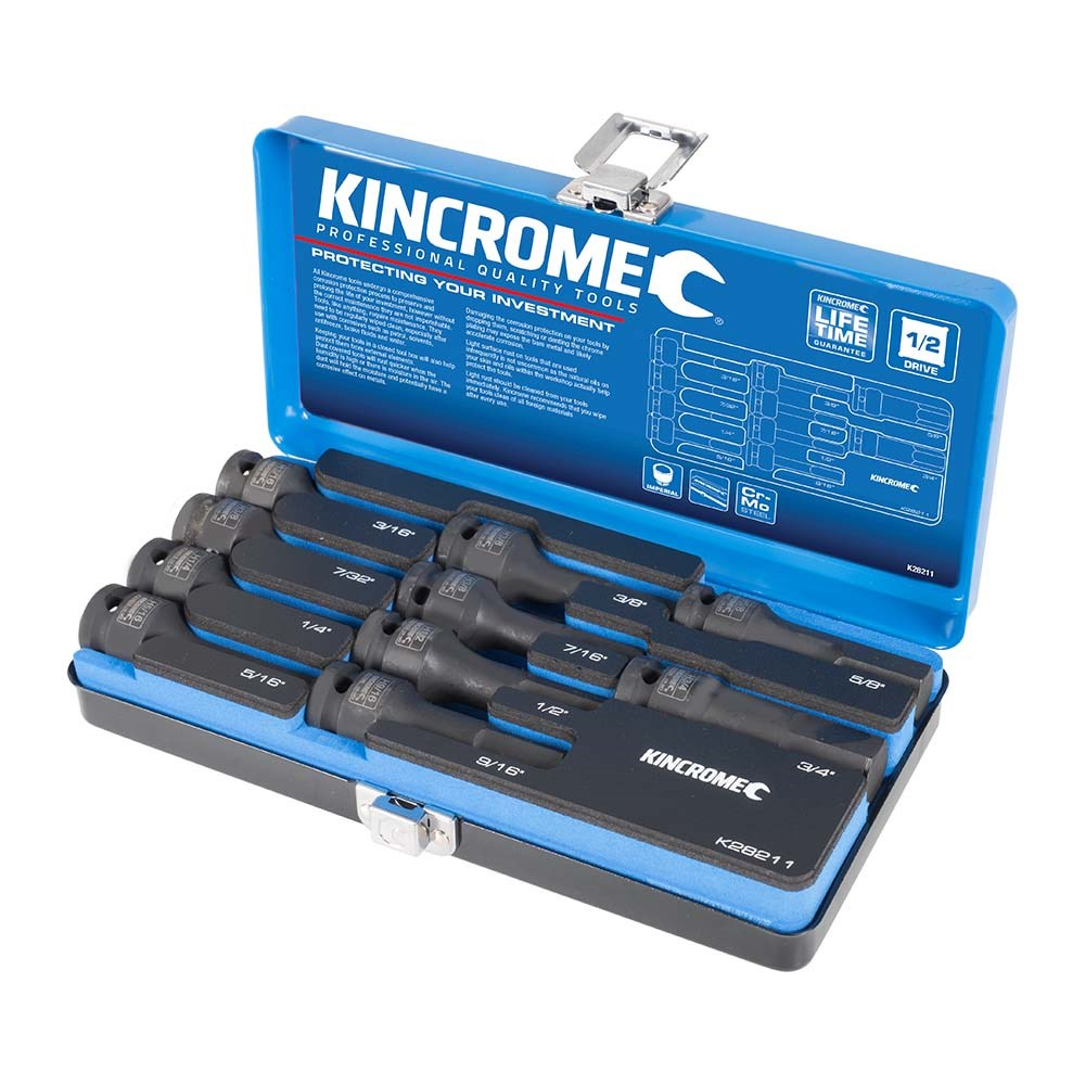 "Kincrome 10 Piece Impact Hex Socket Set 1/2"" - Imperial K28211"