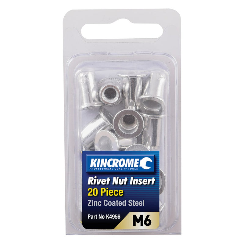 Kincrome Rivet Nut Insert Zinc Steel M6 20 Piece K4956