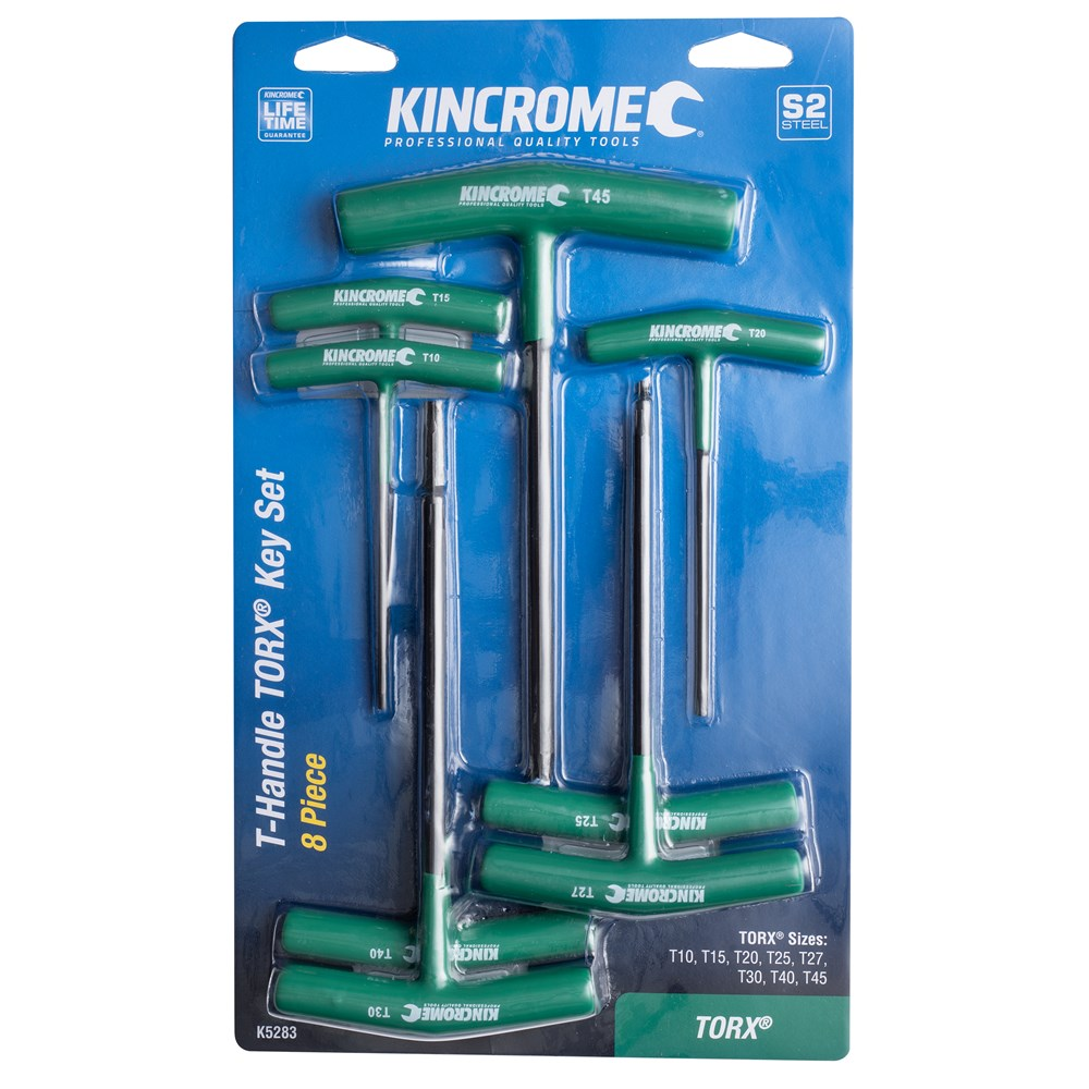 Kincrome 8 pce T-Handle Hex Key Set - Torx K5283