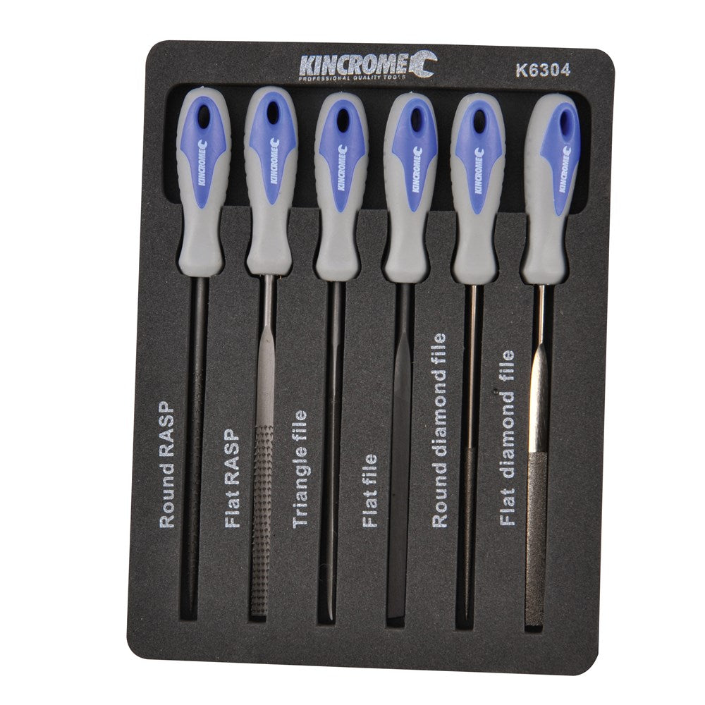 Kincrome Mini File Set 100mm 6 Piece K6304