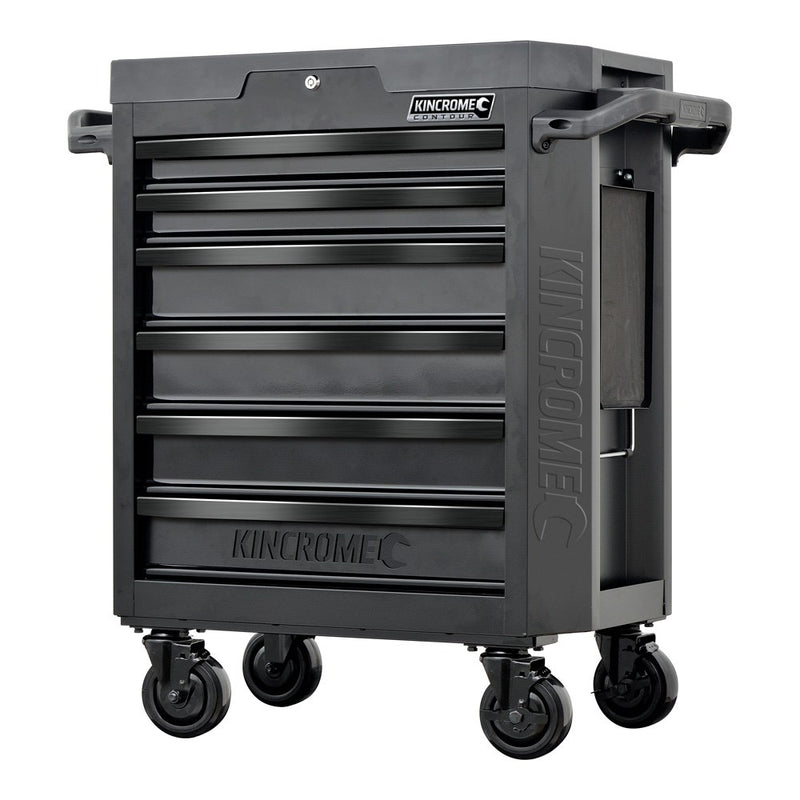 "Kincrome Contour 6 Drawer Tool Trolley 29"" Matt Black K7536"