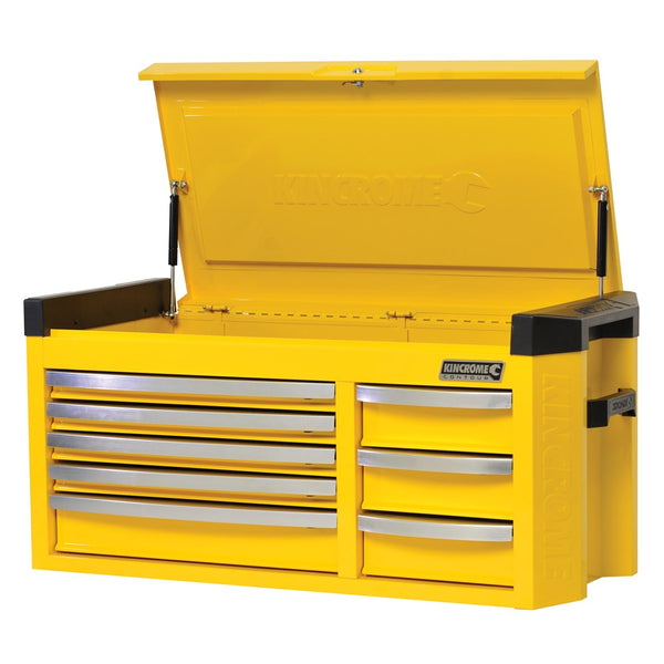 Kincrome Extra Wide Contour 8 Drawer Tool Chest Wasp Yellow K7758Y