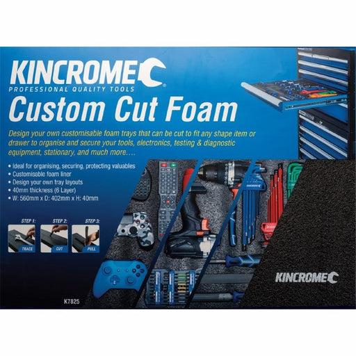 Kincrome 560x402mm Custom Cut Foam K7825
