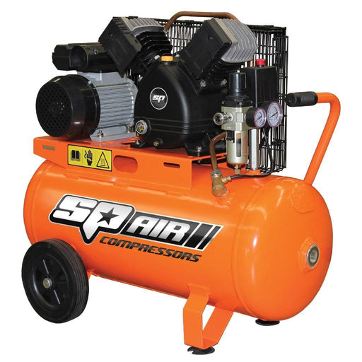 SP AIR COMPRESSOR - V-TWIN CAST IRON PORTABLE - 2.2HP SP13-50X