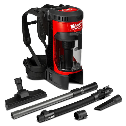 Milwaukee M18FBPV-0 18V Li-ion Cordless Fuel 3-in-1 Backpack Vacuum Dust Extractor - Skin Only