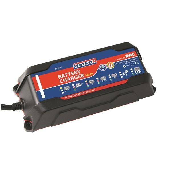 Matson Smart Battery Charger 3 Amp Auto Exact AE300E - United Tools Townsville