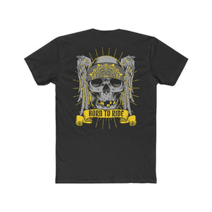 Born To Ride Cotton Crew Tee (Double sided)