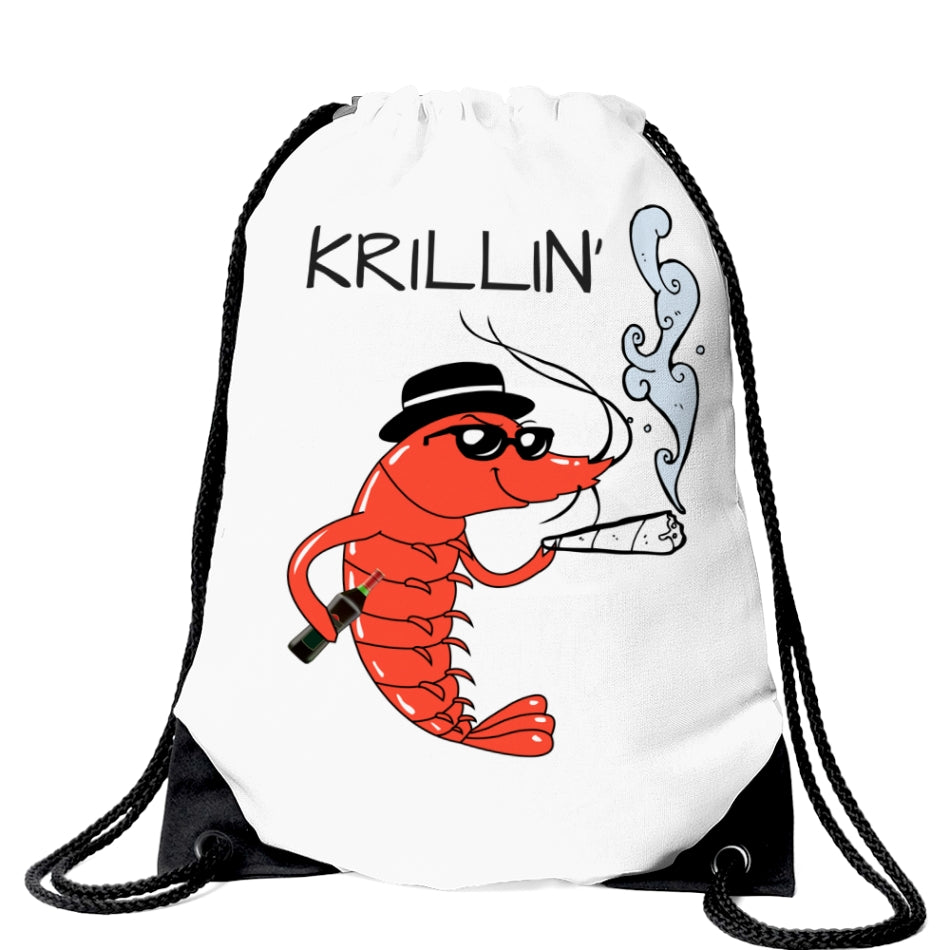 Krillin' Drawstring Bag | Durable Corners | Canvas Fabric