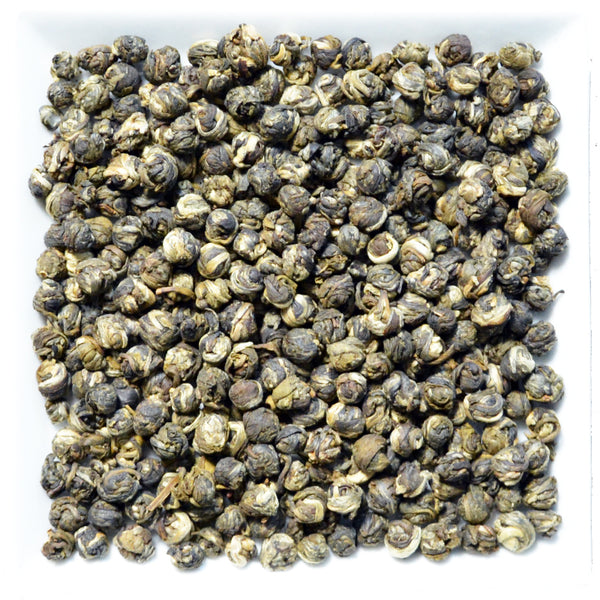 China Jade Jasmine Pearls, Flavoured Green Tea - GROENSBJERG TEHANDEL