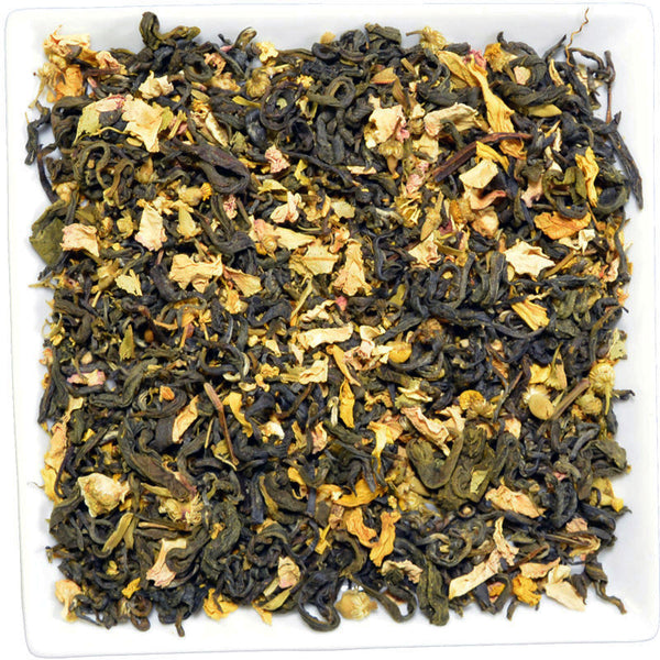 Lemon Elderberry Tea -Organic-, Flavoured Green Tea - GROENSBJERG TEHANDEL