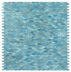 Malibu Turquoise Pebble Glass Mosaic (Pool Rated)
