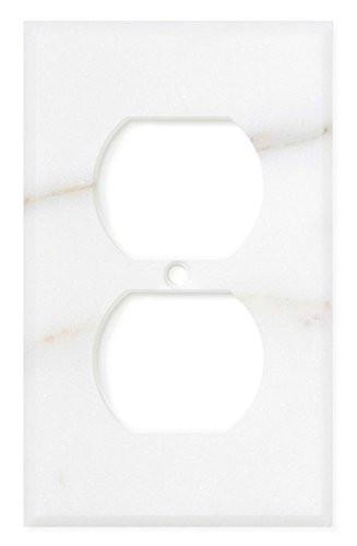 Calacatta Gold Marble Single Duplex Switch Plate Tilezz