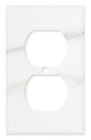 ITALIAN CALACATTA GOLD MARBLE SINGLE DUPLEX SWITCH WALL PLATE / SWITCH PLATE / COVER - HONED OR POLISHED