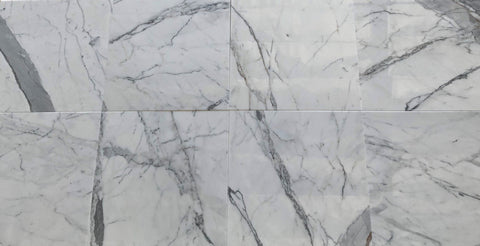 Statuario White 18x18 Polished Marble Field Tile Stone Tilezz