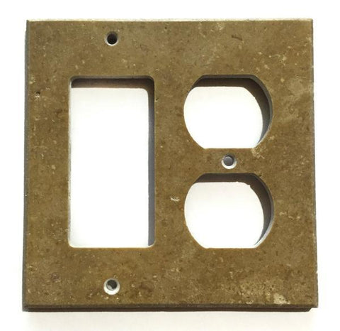 Noce Travertine Rocker Duplex Switch Wall Plate/ Outlet Cover Tilezz