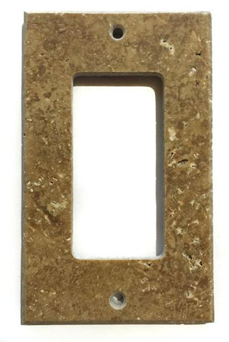 Noce Travertine Single Rocker Switch Wall Plate/ Outlet Cover Tilezz