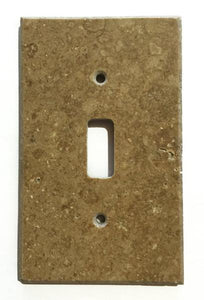Noce Travertine Single Toggle Switch Wall Plate/ Outlet Cover Tilezz