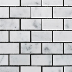 Carrara  White Marble  Baby Brick Mosaic Polished/Honed