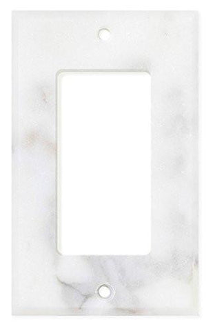 ITALIAN CALACATTA GOLD MARBLE SINGLE ROCKER SWITCH WALL PLATE / SWITCH PLATE / COVER - HONED OR POLISHED