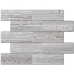 Haisa Light ( White Oak ) 4x12 Marble Tile Honed